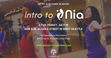Intro to Nia Class at Move2Center Studio in West Seattle